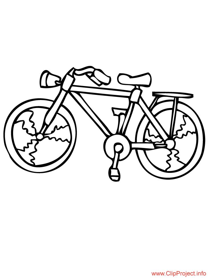 Bicycle coloring sheet