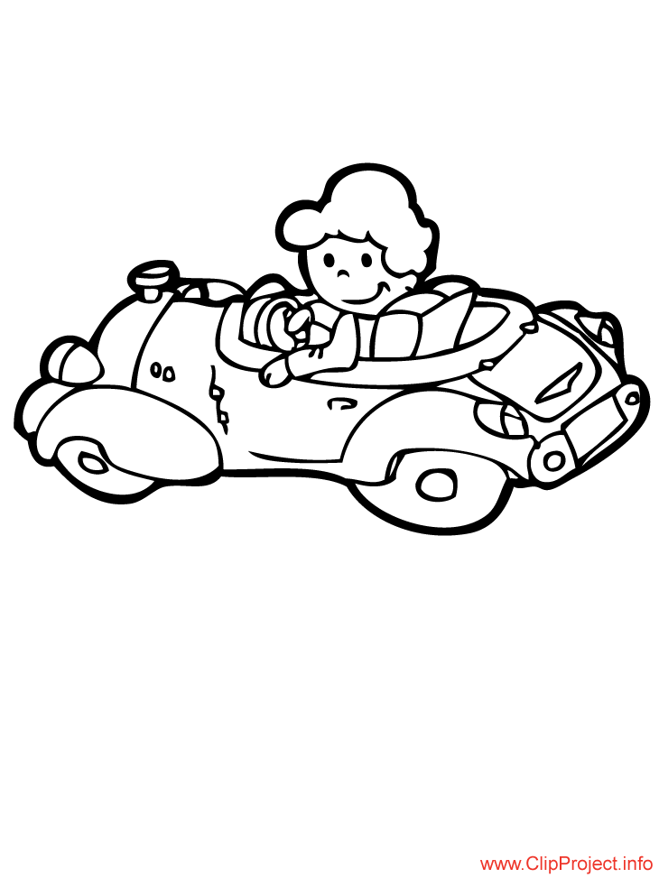 cartoon car image to coloring