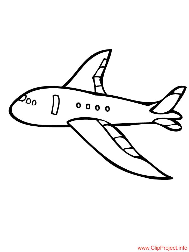 Plane colouring sheet