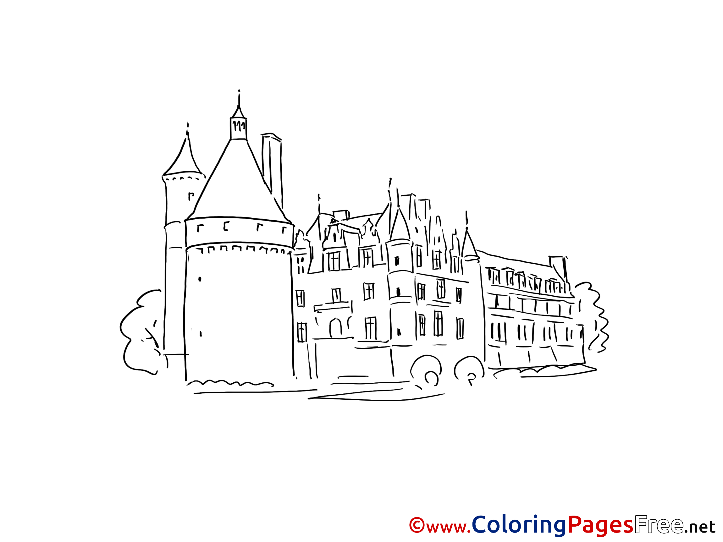 Printable Castle Coloring Pages For Kids | 1725x2300