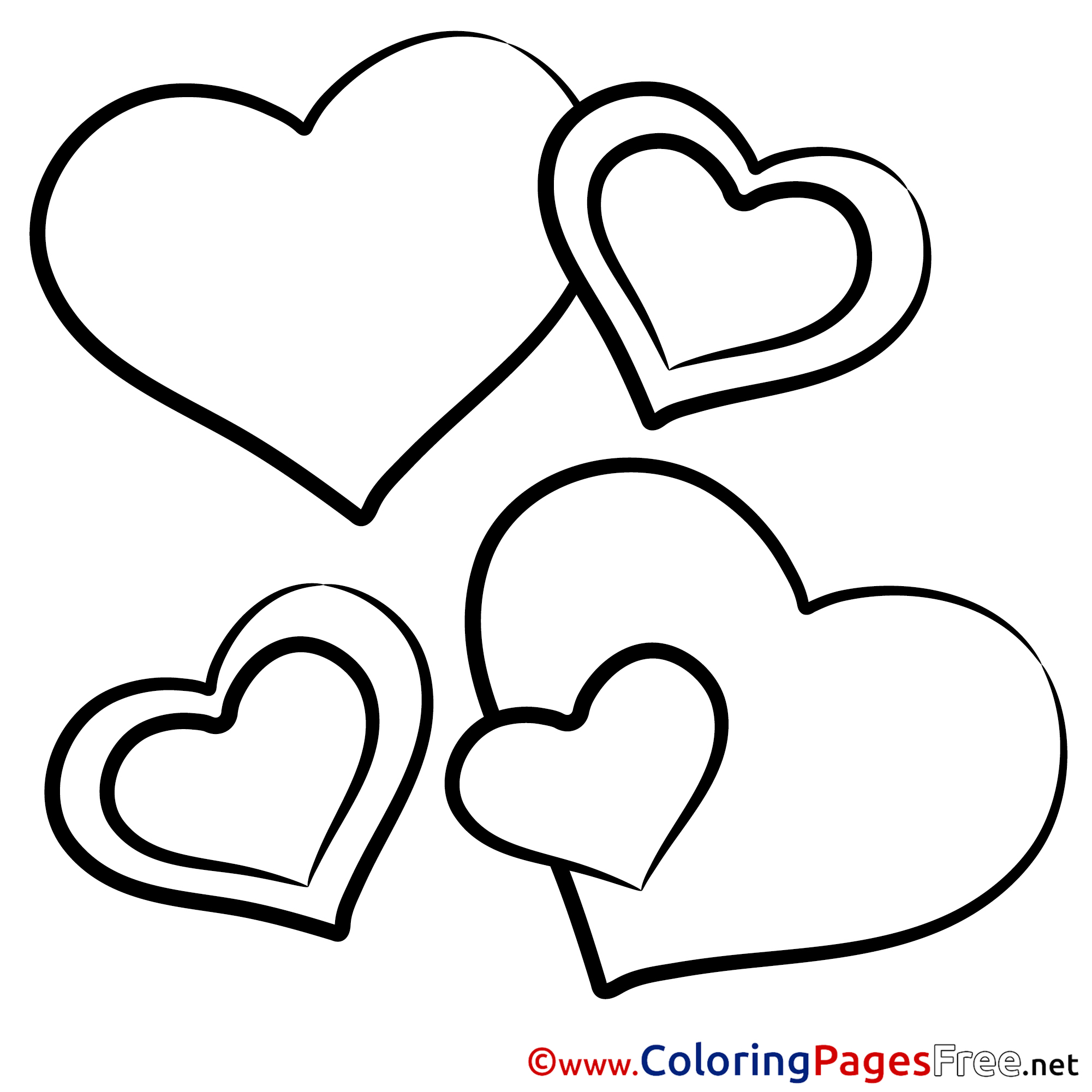 Drawing Hearts Printable Coloring Pages Valentine S Day