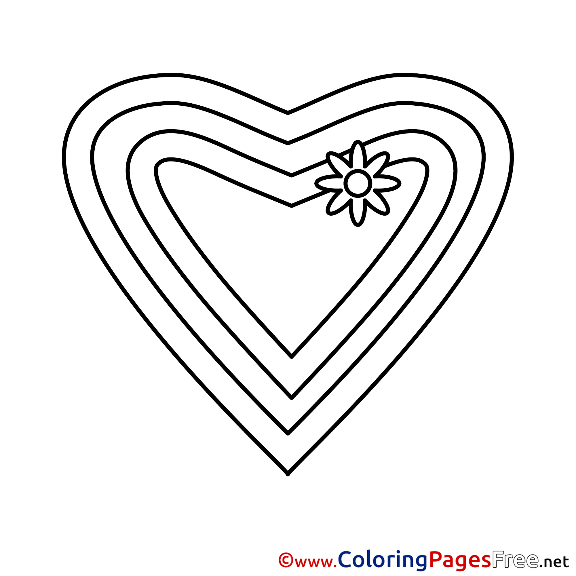 Image Heart free Valentine\'s Day Coloring Sheets