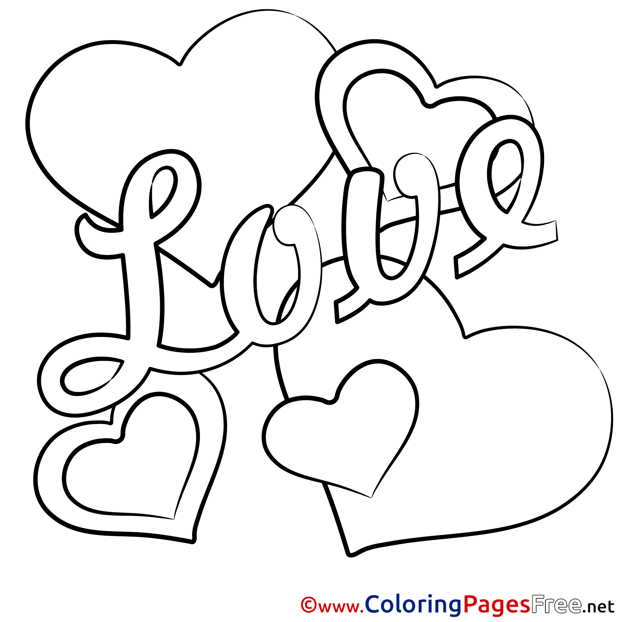 Valentine\'s Day Hearts Coloring Pages free