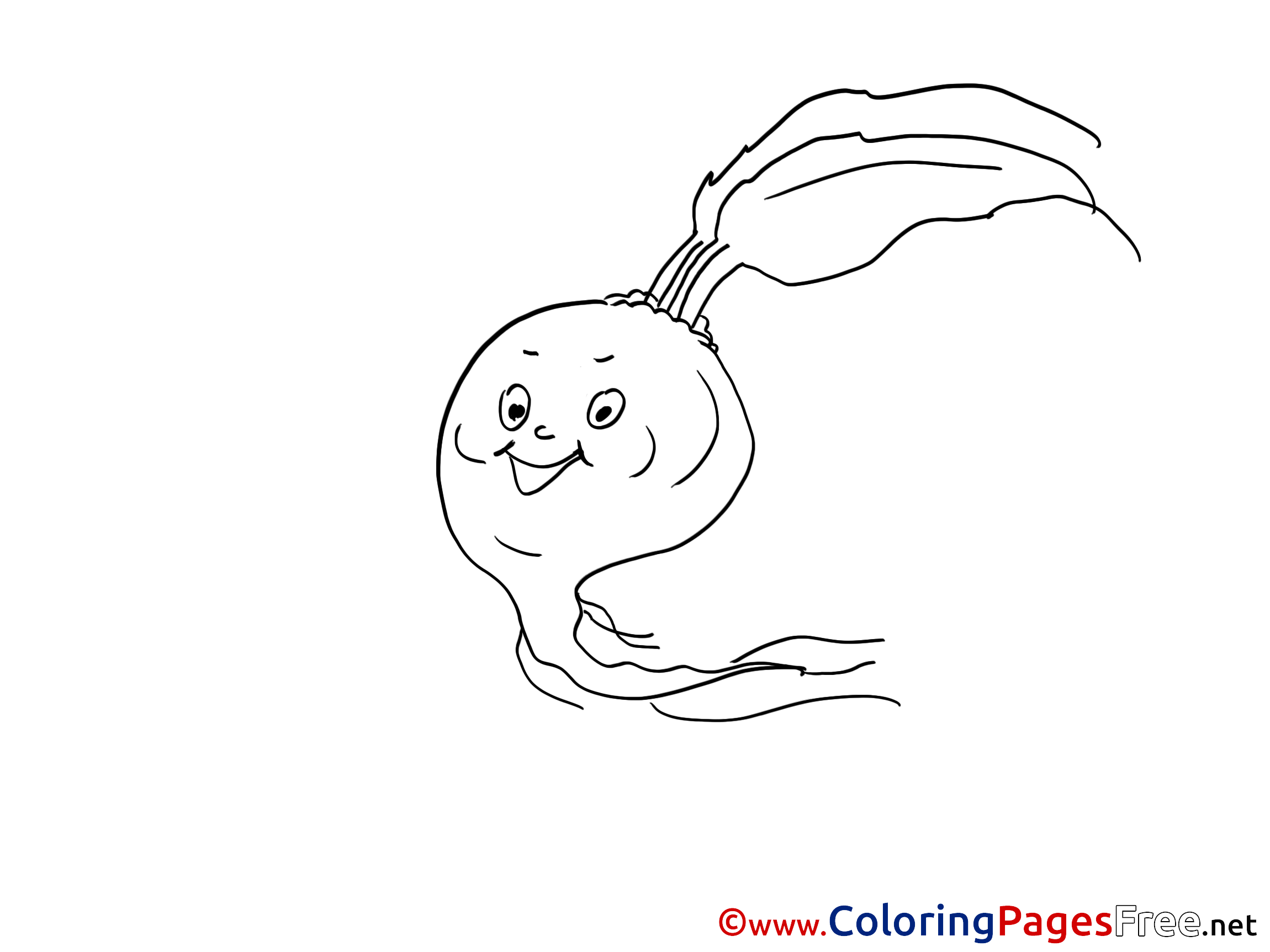 Radish 4 coloring page | Free Printable Coloring Pages | 1725x2300