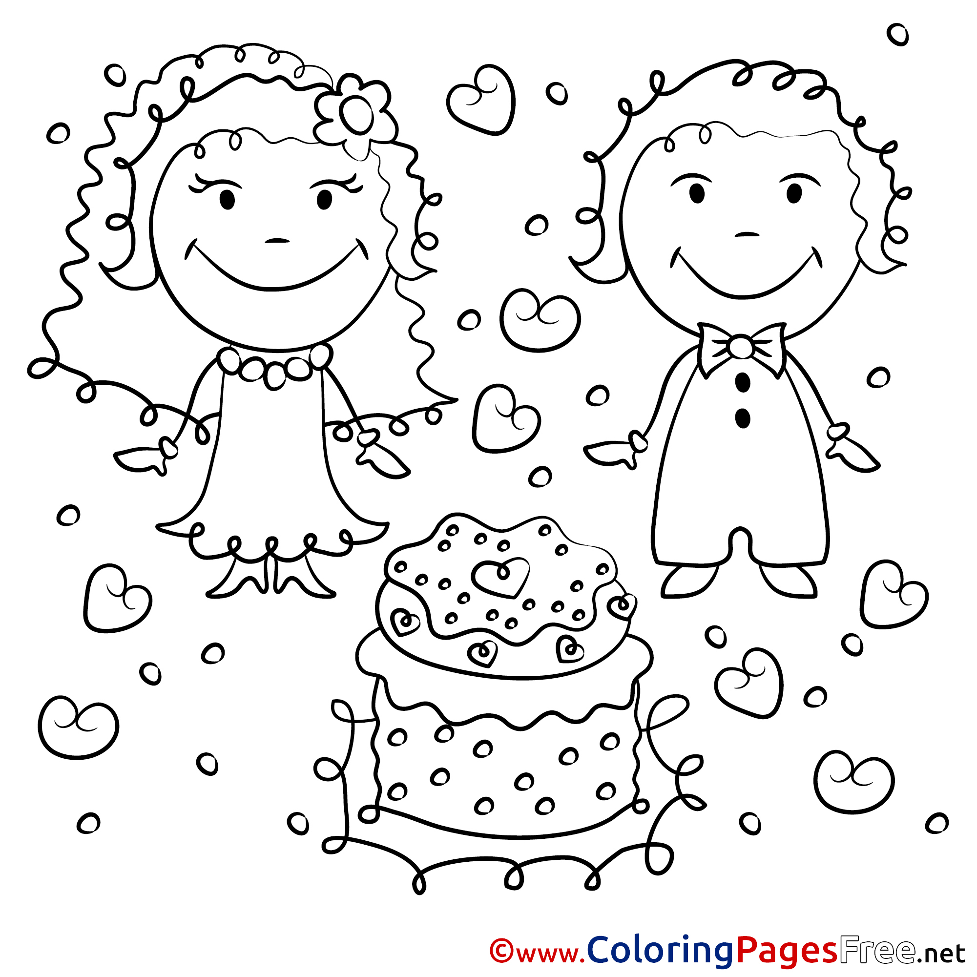 52 Astonishing Wedding Coloring Pages For Kids – Stephenbenedictdyson | 2001x2001
