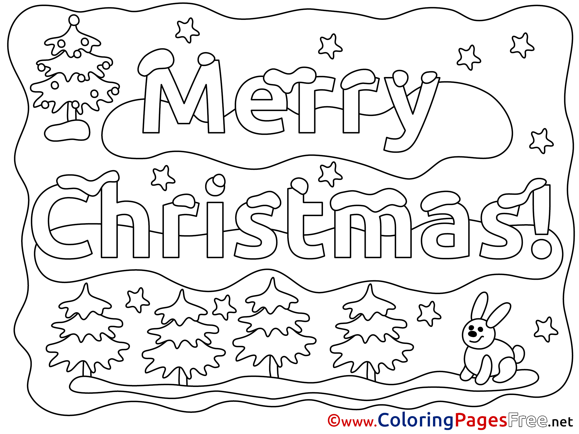 Merry Christmas Winter Coloring Pages Free Merry Colouring Pages Free