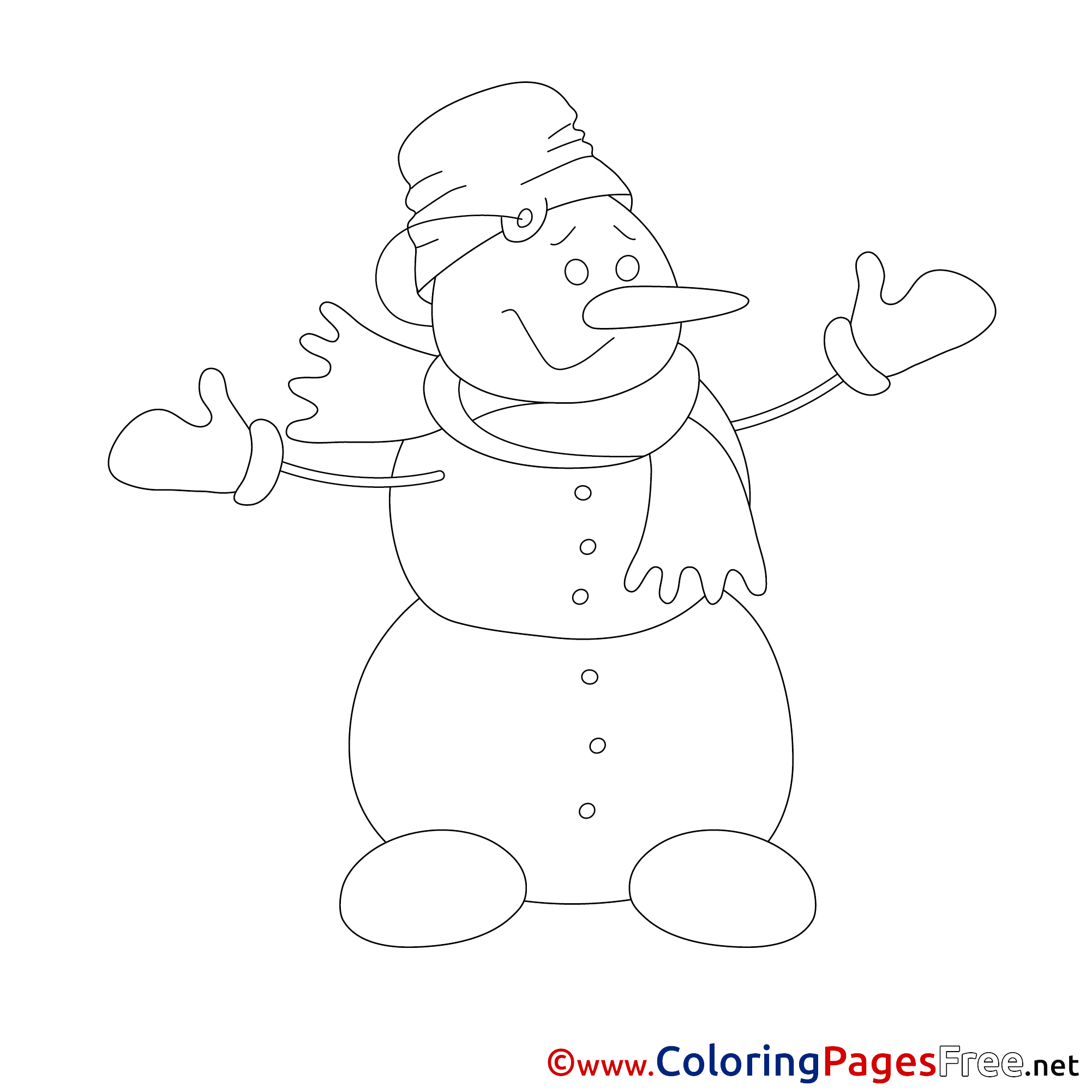 Free Snowman Coloring Page, Download Free Clip Art, Free Clip Art ... | 2001x2002
