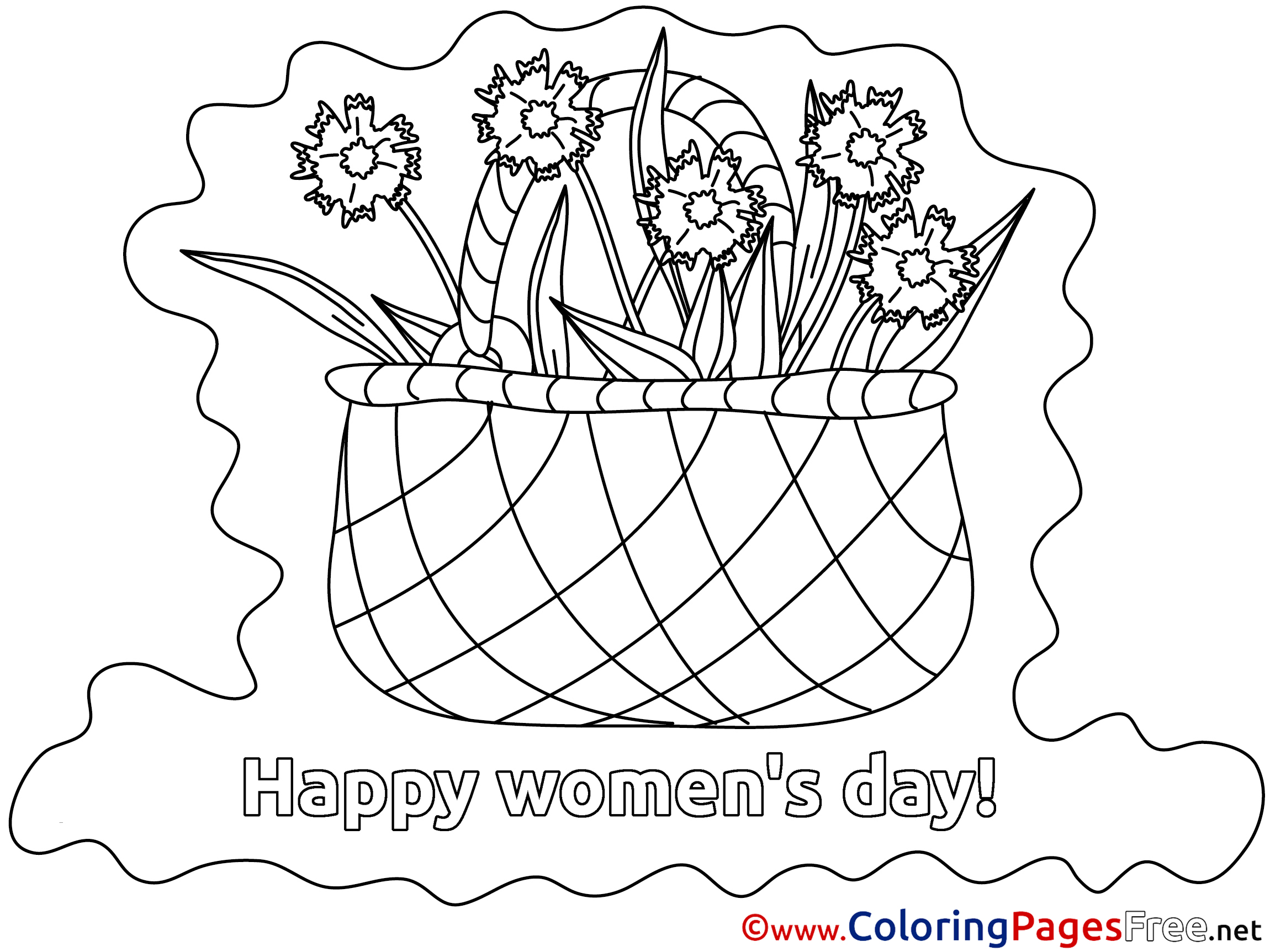 Empty Basket Coloring Page - Coloring Home | 1725x2300