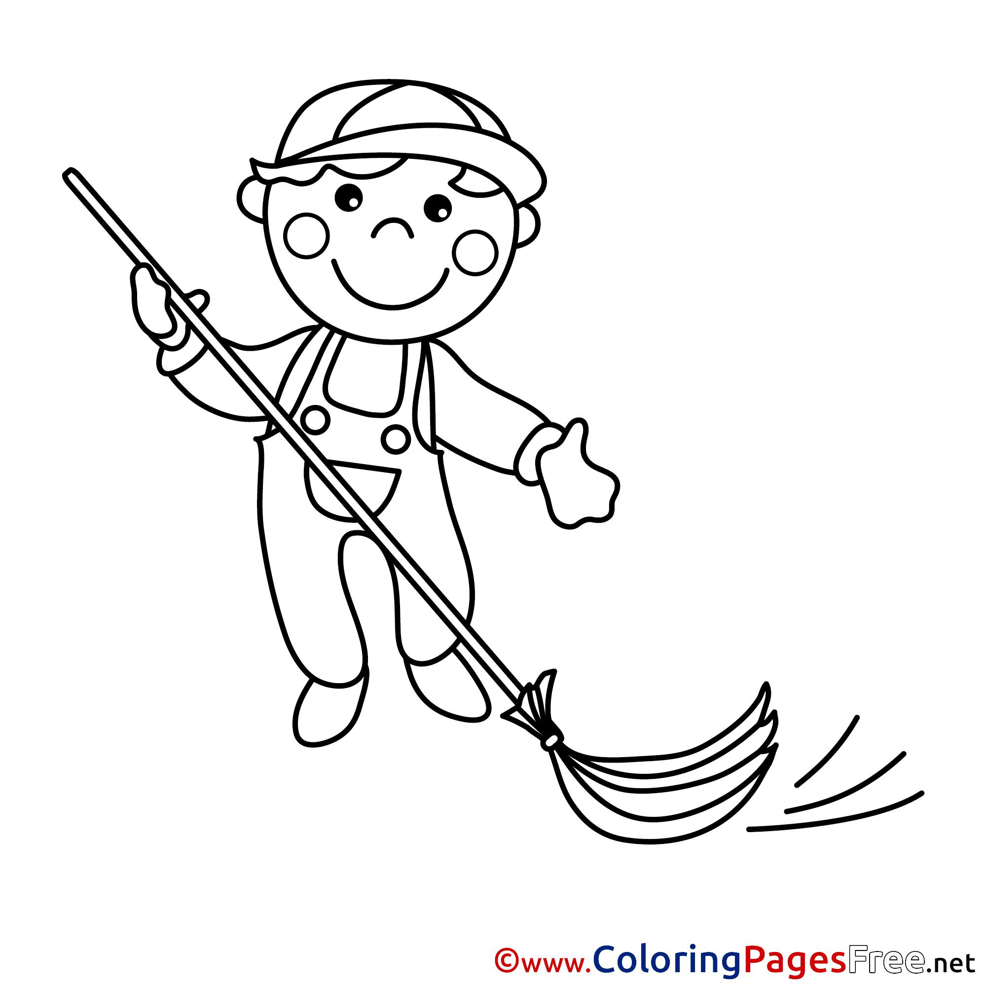 caretaker for kids printable colouring page