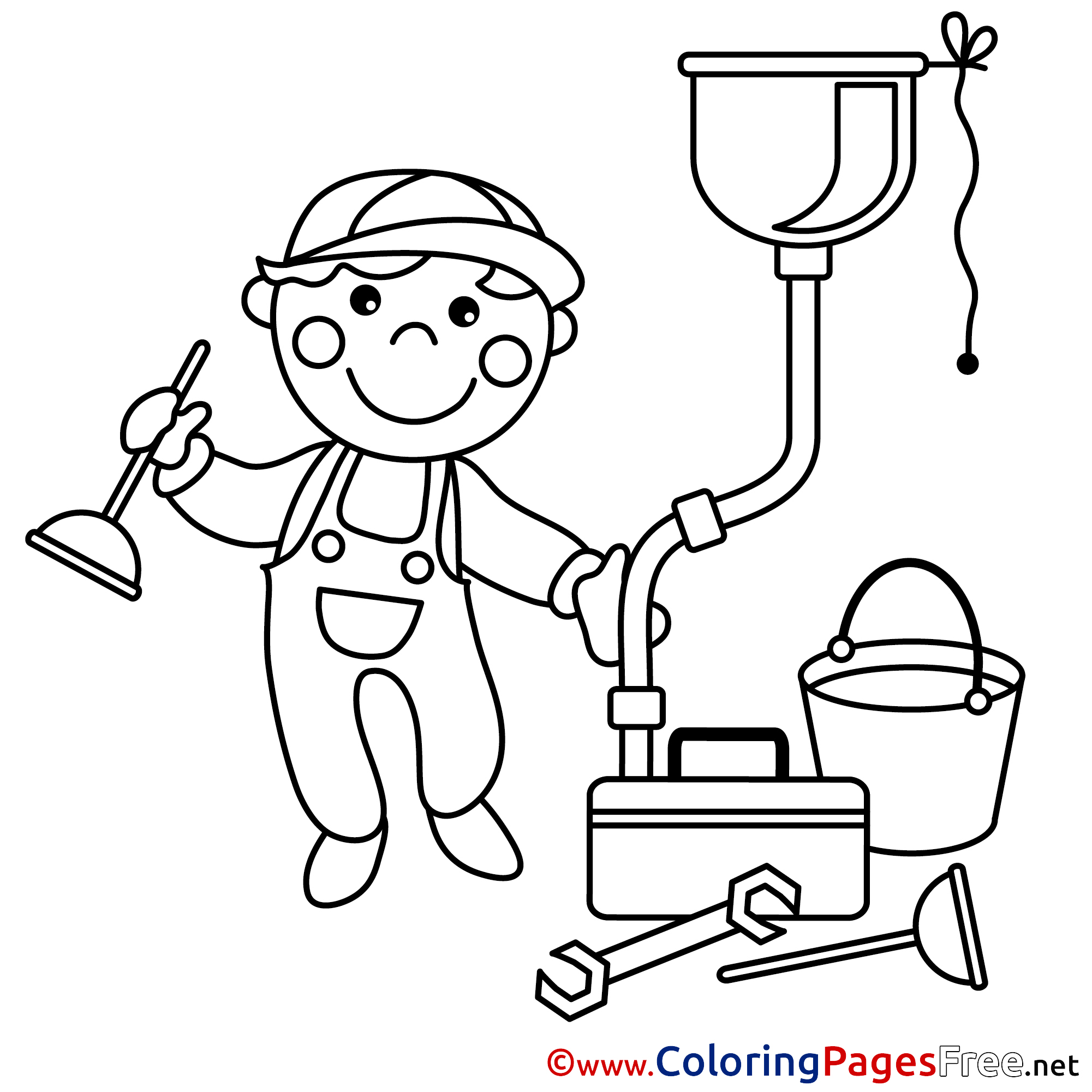 plumber coloring pages