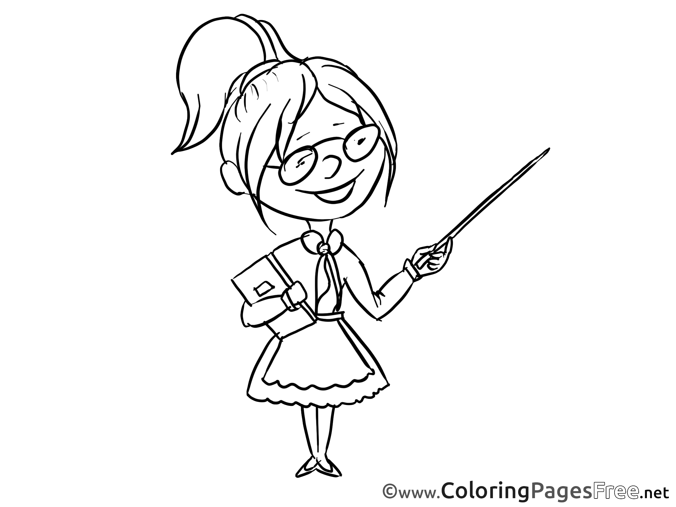 - Teacher Kids Download Coloring Pages