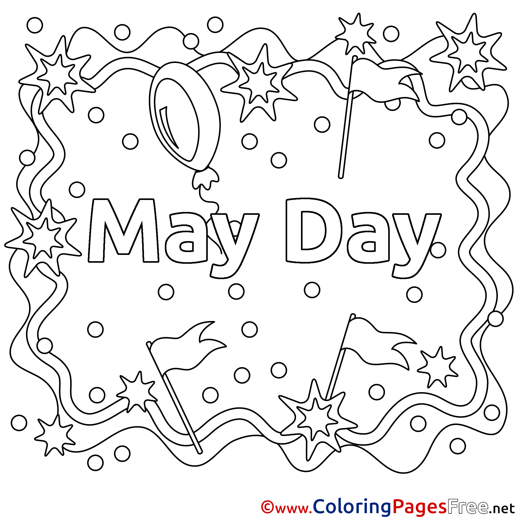 may day kids workers day coloring page