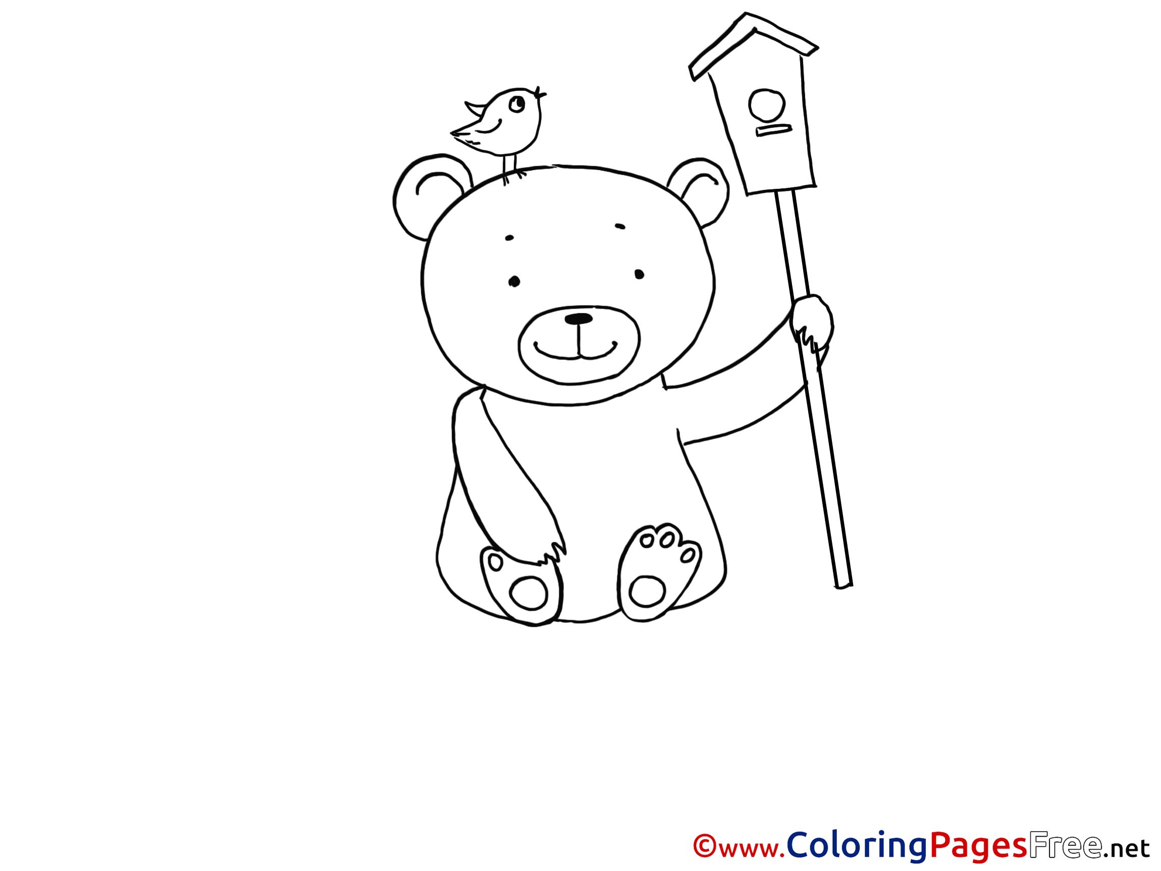 Birdhouse coloring sheet - Birdhouse Coloring Sheet 24