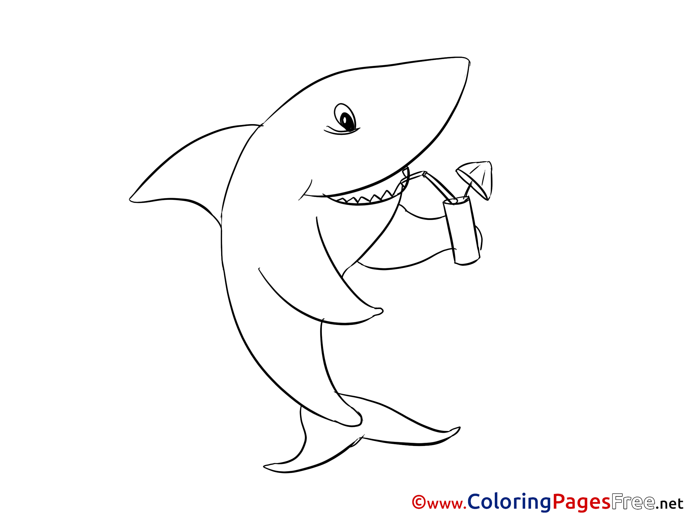 Shark Colouring Sheet download free