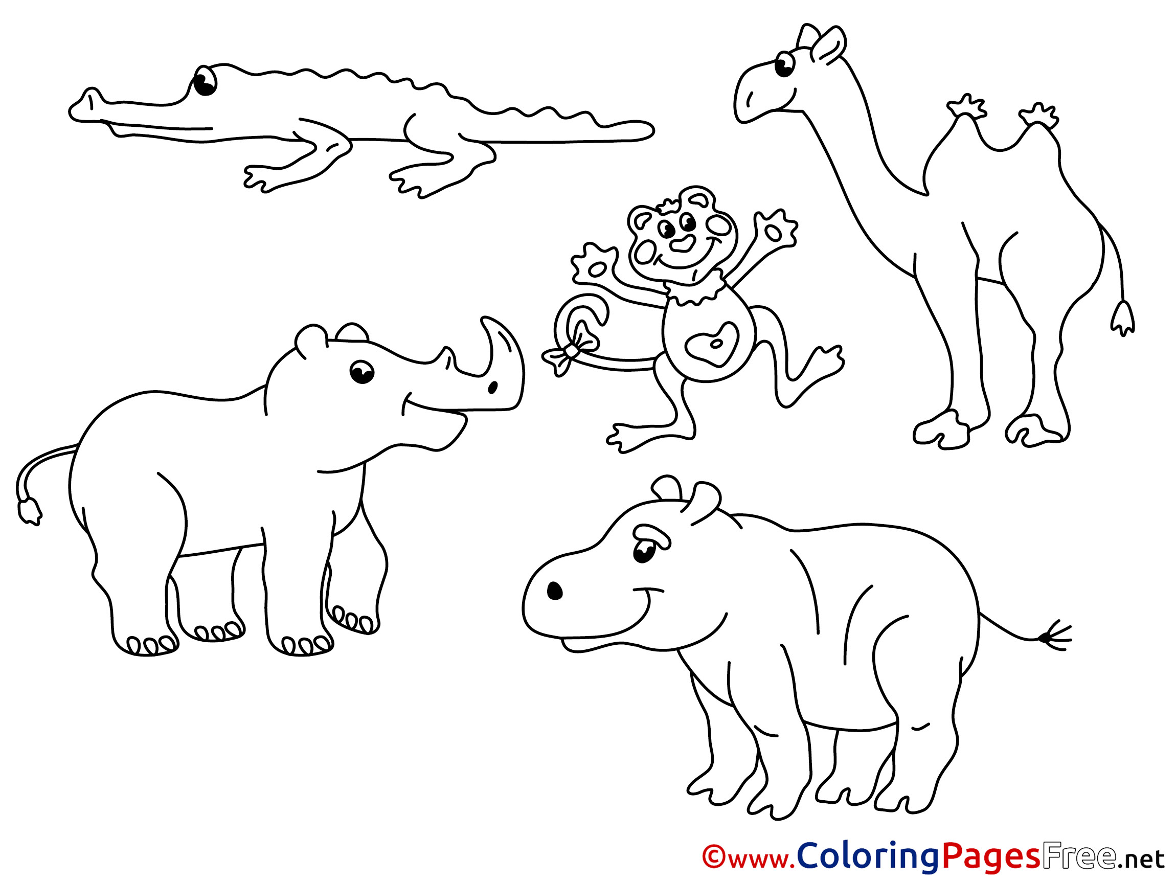 - Zoo Animals Coloring Sheets Download Free