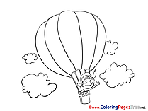 Air balloon for Children free Coloring Pages