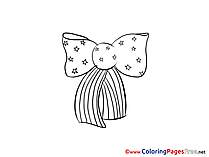 Bow-tie Independence Day printable Coloring Sheets
