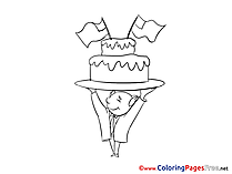 Cake printable Coloring Pages for free