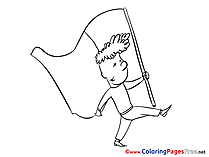 Children free Independence Day Coloring Pages