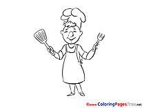 Cook free printable Coloring Sheets