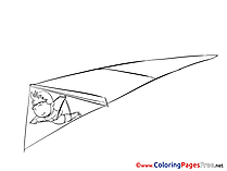 Delta plane download Colouring Sheet free