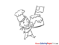 Flag Independence Day Colouring Page printable free