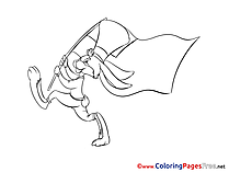 Fourth of July for Kids printable Colouring Page
