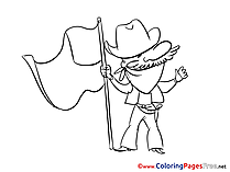 Fourth of July free printable Coloring Sheets