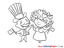 Holiday for Children download Colouring Page
