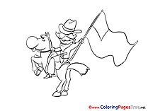 Horse 4th of July download Coloring Pages