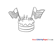 Independence Day Cake Coloring Pages download