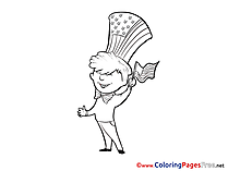 Independence Day Coloring Sheets download free