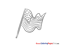 Independence Day download Colouring Page
