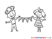 Kids Coloring Sheets Fourth of July download free