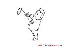 Music free Colouring Page Fourth of July download