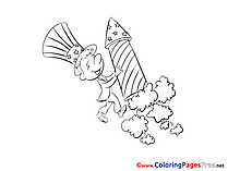 Rocket download Fourth of July Coloring Pages