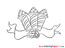 Rocket Independence Day Colouring Page