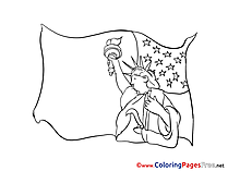 Statue of Liberty Colouring Page printable free