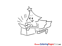 Advent Coloring Pages free Christmas Tree