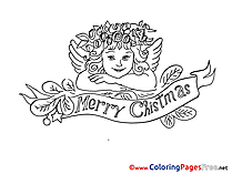 Angel Advent free Coloring Pages
