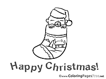 Baby for Kids Advent Colouring Page
