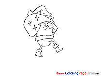 Bag for Kids Advent Colouring Page