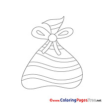 Bag Kids Advent Coloring Pages
