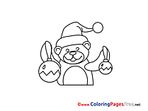 Bear Kids Advent Coloring Page