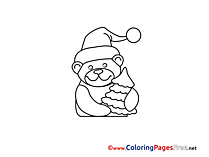 Bear printable Coloring Pages Advent