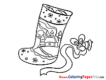 Bell Colouring Sheet download Stoking Advent