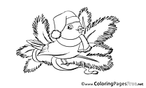 Bird Advent Coloring Pages download