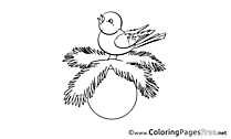 Bird Colouring Sheet download Advent