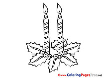 Candle Advent Coloring Pages download