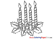 Candle download Advent Coloring Pages
